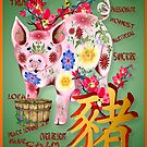 Year Of The Pig In Flowers (traits) by Lotacats