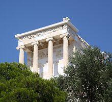 temple of athena nike by Iris Mackenzie