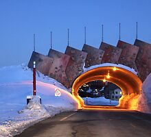 Hotham Snow Bridge by Charles Kosina