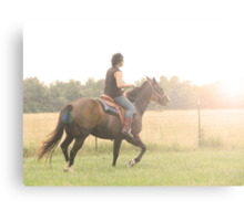 his free spirit rides the wind into his fate Canvas Print