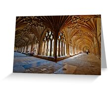The Cloisters - Canterbury Cathedral. Greeting Card