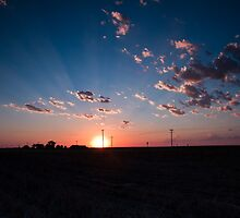Sunset over Kansas by Troy Barrett