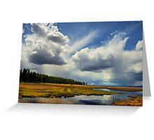 Klamath Marsh Big Sky Greeting Card