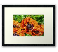 Flower - Poppy - Orange Poppies  Framed Print