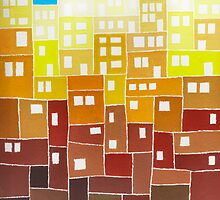 Fantasy Town - Brush And Gouache by RainbowArt