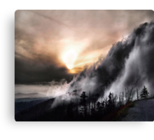 Smoky Mountain Fog Canvas Print