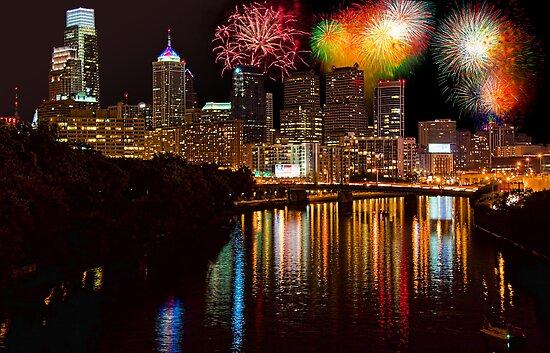Pennsylvania. Philadelphia. Independence Day Fireworks. by vadim19