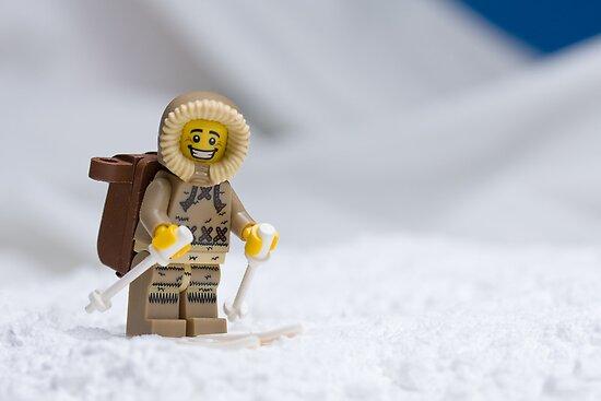 Skiing Lego Eskimo  by Kevin  Poulton - aka 'Sad Old Biker'