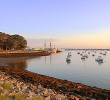 Plymouth Harbor Morning Solitude  by John  Kapusta