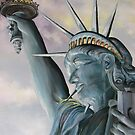Statue of Liberty-Freedom Felt by TN Artist by JeffeeArt4u