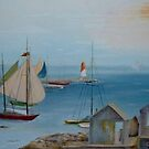 Sails in the Distance  by Phyllis Frameli