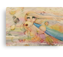 rainbow angel Canvas Print