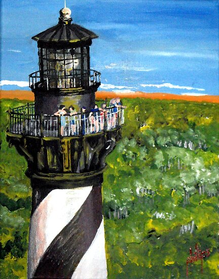 Gull's View of Hatteras by Jim Phillips