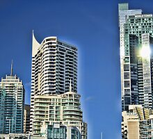 Sun Shine over Sydney glass towers by ©Josephine Caruana