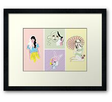 Pastel Fashion Collection Framed Print