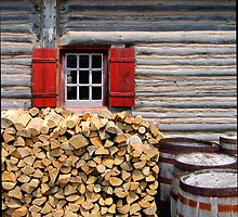 Firewood and Window by marybedy