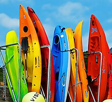 Colourful Kayaks by Susie Peek