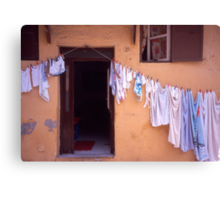 Washing Line. Rhodes Old Town, Greece Canvas Print