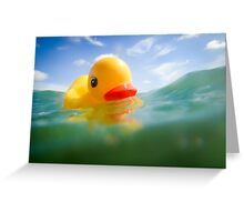 Swimming Rubber Ducky Greeting Card