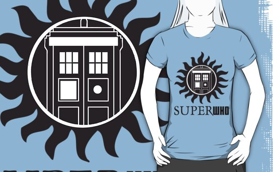 SUPERWHO DOCTOR WHO SUPERNATURAL with LOGO by thischarmingfan