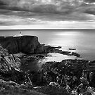 Stoer Lighthouse - Under A Cauldron Sky (B&W Version) by Kevin Skinner