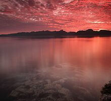 Red sunset by Frank Olsen