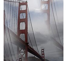 San Francisco  Golden Gate Bridge Watercolor Print by Delights