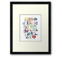 Animalphabet Framed Print