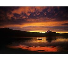 Director James Ivory and Lake of the Woods Sunset Photographic Print