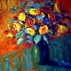 Bunch of colourful flowers by Ivana Pinaffo