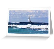 sails at kingscliff ... Greeting Card