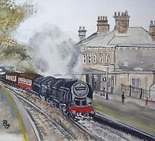 'Britannia' Through Chertsey by Carole Robins