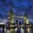 Tower Bridge Blue Hour by Conor MacNeill