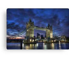 Tower Bridge Blue Hour Canvas Print