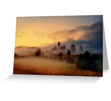 Misty village Greeting Card