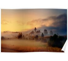 Misty village Poster