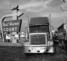Route 66 - Rest Haven Motel by Frank Romeo