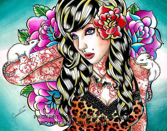 Head Noise Tattooed Pinup Girl by MissCarissaRose