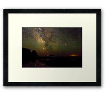 Milky Way from Olympic Coast Framed Print