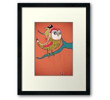 Awful Owly Thriller Framed Print
