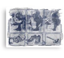 Vigilante Blueprint Metal Print