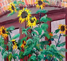 Still Life Painting - Sunflower Charm - 8 X 10 Oil en plein air by Daniel Fishback