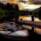 Summer&#x27;s Sunset,Loch Ard by Aj Finan