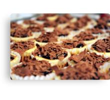 Mini Chocolate Cheesecakes Canvas Print