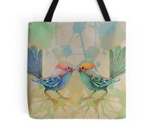 little love birds blue Tote Bag