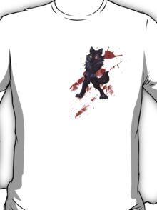 Cute anthro black wolf T-Shirt