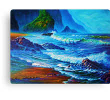 Morning Surf Oregon Canvas Print