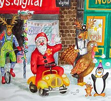 Santa tours Bognor - Clown Convention by Corrina Holyoake