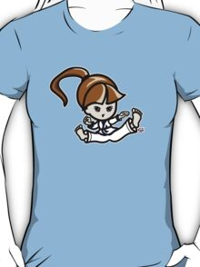 Martial Arts/Karate Girl - Jumping Split Kick T-Shirt