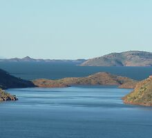 Lake Argyle W.A.[Ord River Dam] by Virginia  McGowan